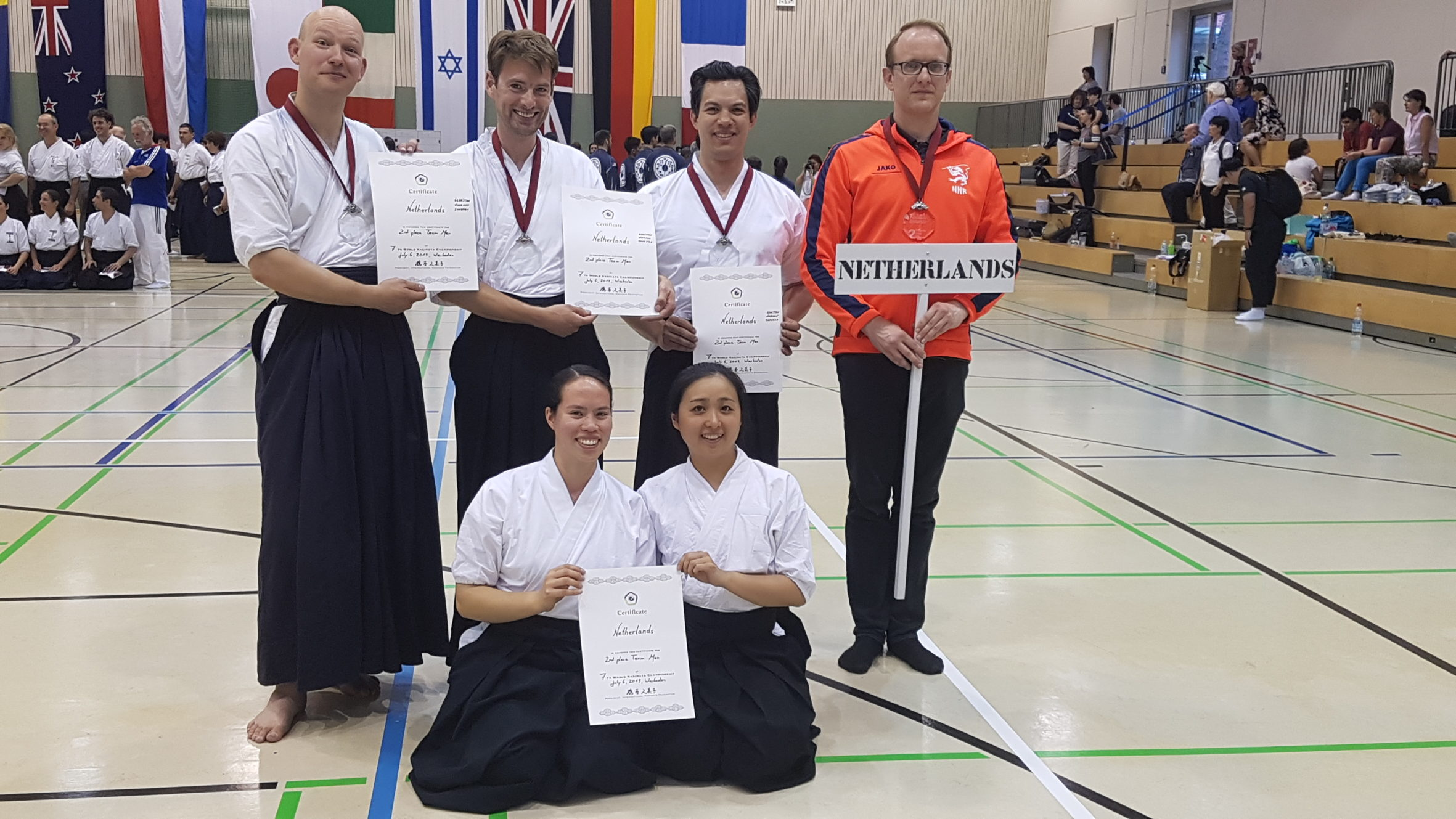 Nederlands mannenteam tweede WK Naginata